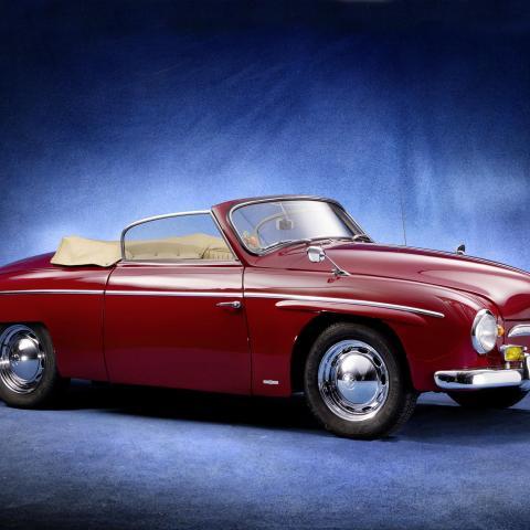 Red Volkswagen Rometsch Beeskow Cabriolet wallpaper