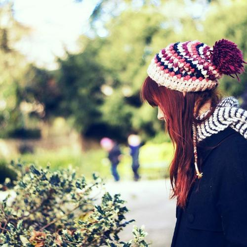 Redhead girl in the Park