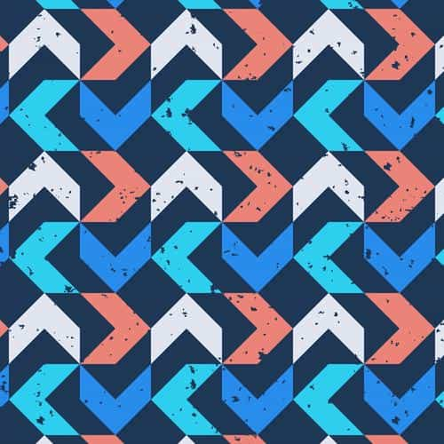 retro red blue pattern grunge