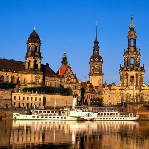 Riverscape In Dresden Germany