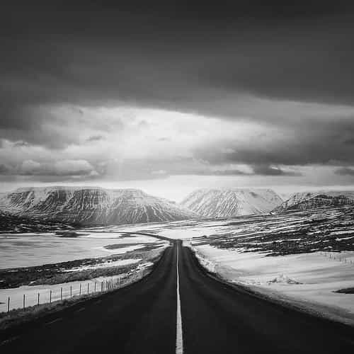 road to heaven snow mountain bw dark nature winter