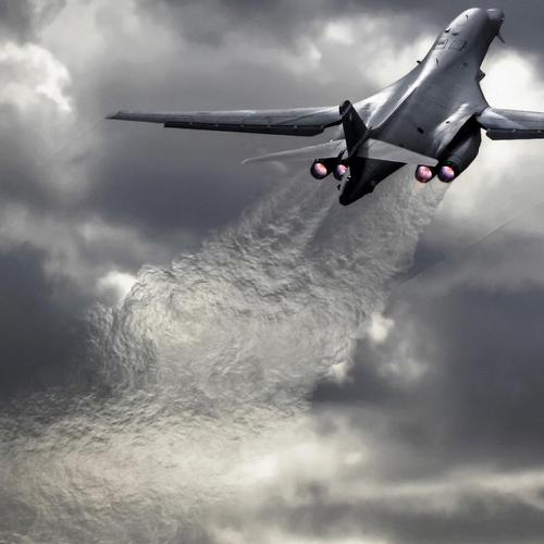 Rockwell B-1 Lancer Supersonic Strategic Bomber Takeoff wallpaper