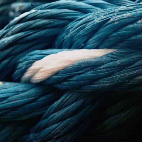 rope blue knot texture