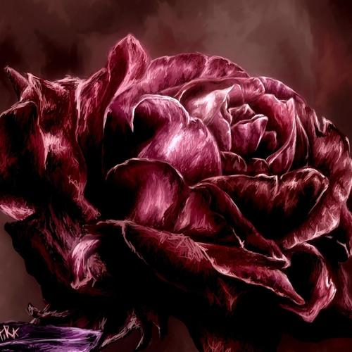 Rose painting wallpaper