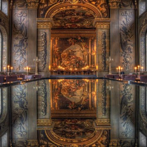 Royal Naval College Of London reflection wallpaper