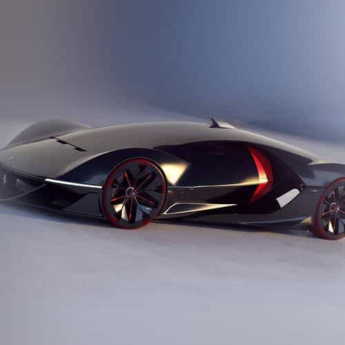 rubika 2040 manifesto car concept ferrari illustration art