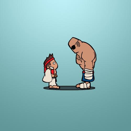 Ryu Sagat Street fighter wallpaper