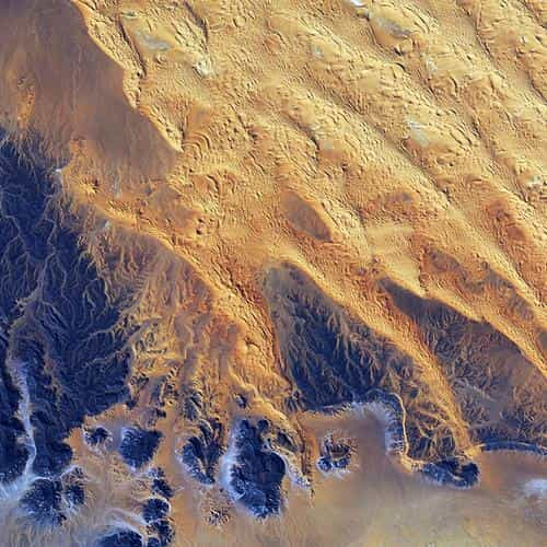 sahara desert earthview yellow blue pattern nature