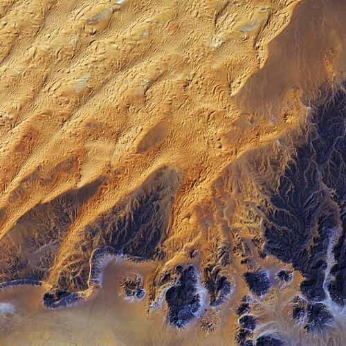 sahara desert earthview yellow blue pattern