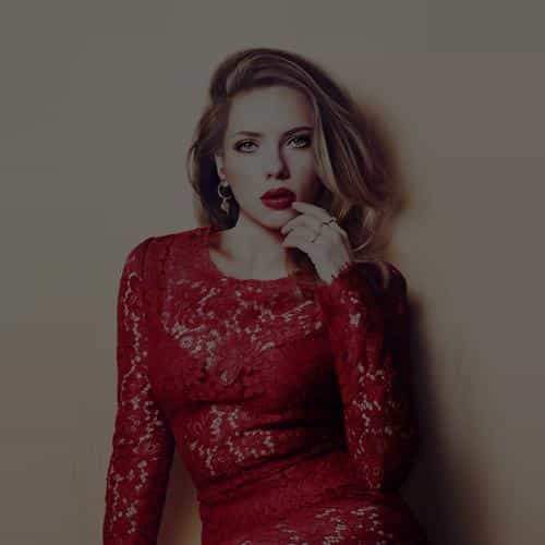 scarlett johansson dark celebrity sexy red