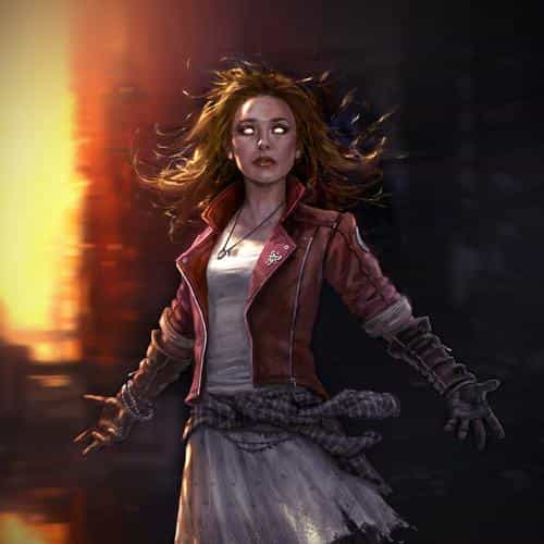 scarlett witch avengers illust scary art hero