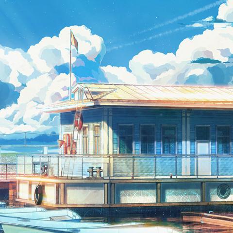 sea illustration art anime painting arseniy chebynkin