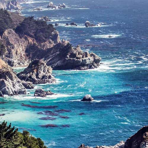 sea ocean rock nature mountain summer