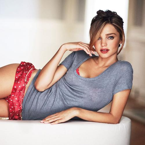 Sexy Miranda Kerr in sleepwear wallpaper