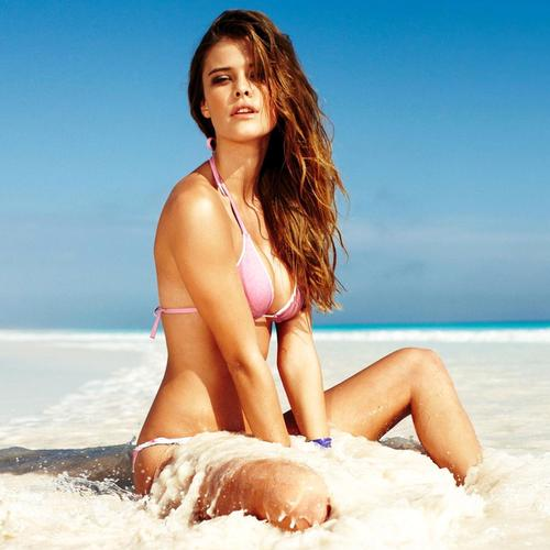 Sexy Nina Agdal Calzedonia on the beach