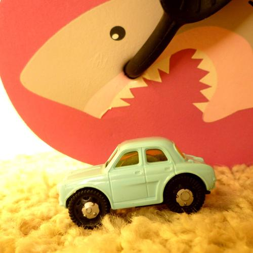 Shark and car toys wallpaper