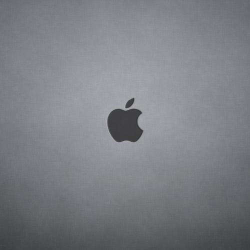 Simple grey wallpaper with apple logo