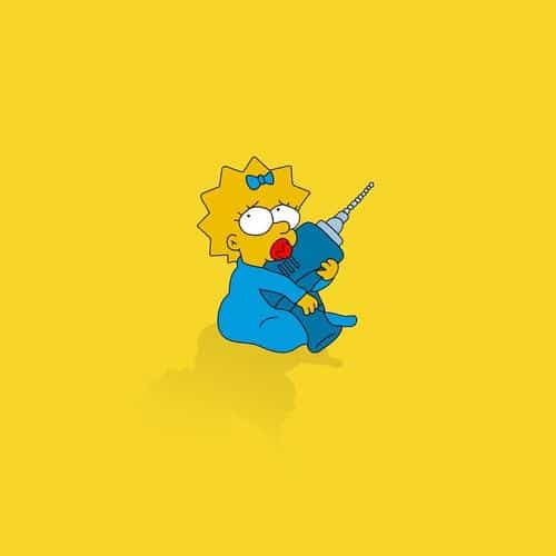 simpsons maggie cute illust cartoon art