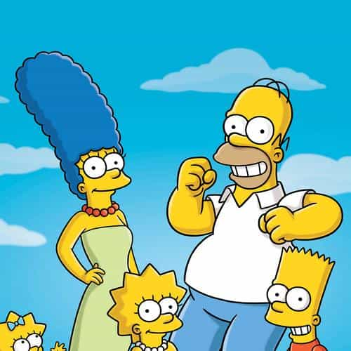 simpsons smiling illust art
