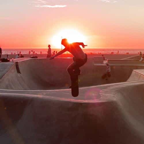 skateboard extreme sports summer flare red
