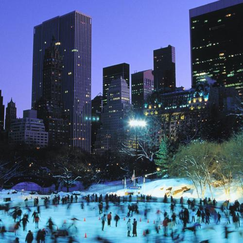 Skaters On Wollman Rink In Central Park wallpaper