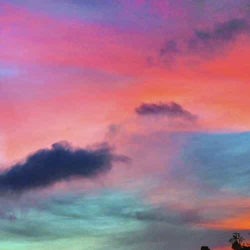 sky rainbow cloud sunset nature
