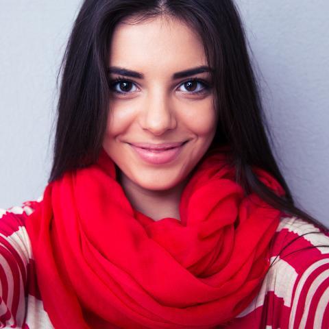 smile girl selfie