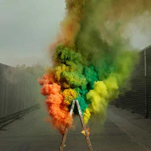 smog fire color rainbow illustration art