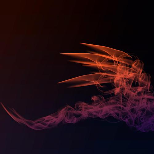 Smoky dragon wallpaper