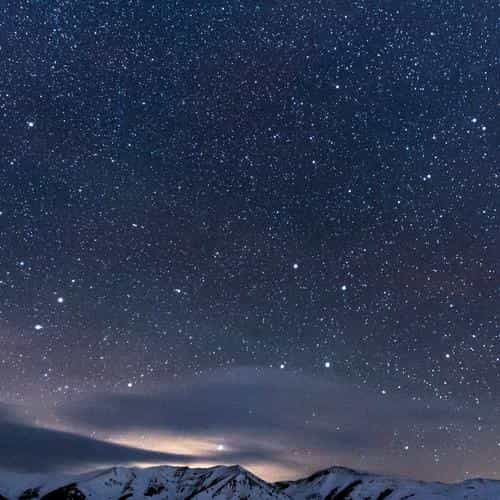 snow night sky star space nature