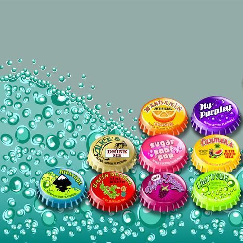 Soda bottle caps wallpaper