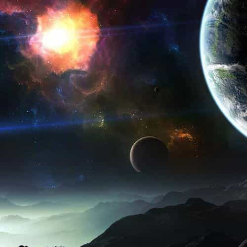space art illustration dark star