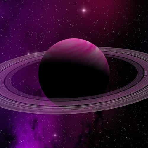 space planet saturn star art illustration purple
