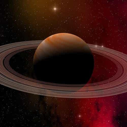 space planet saturn star art illustration red
