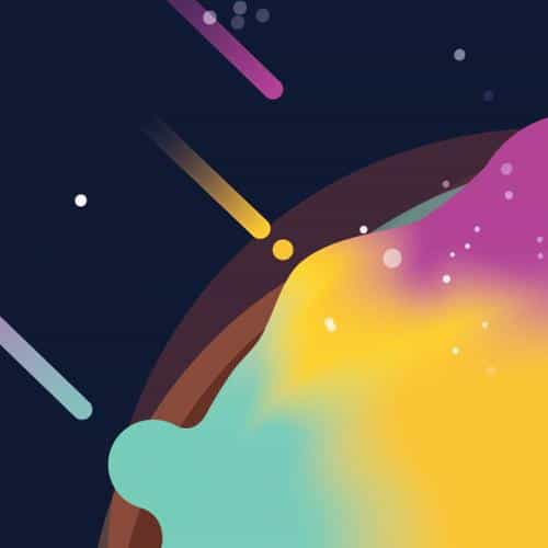 space simple minimal graphic illustration art