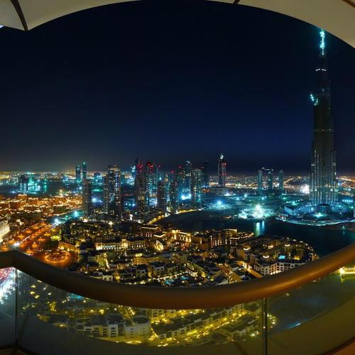 Spectacular Dubai curve view from balcony wallpaper