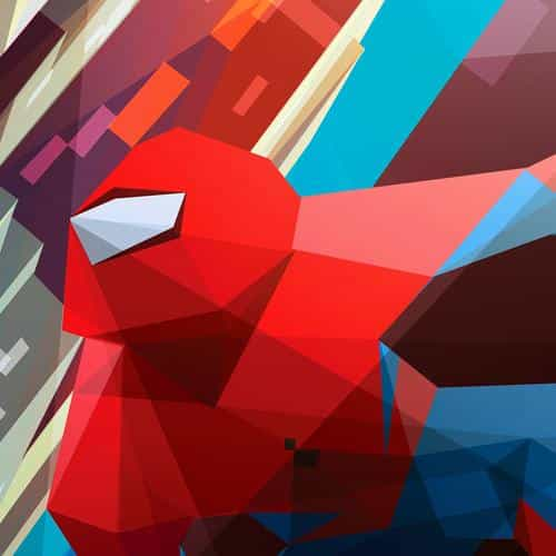 spiderman art hero illust vector