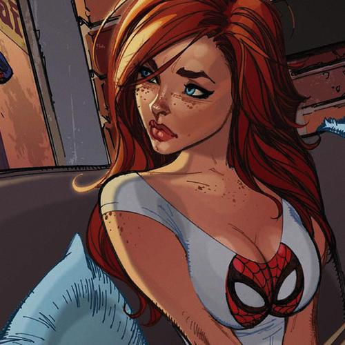 spiderman mary jane angry illustration cartoon