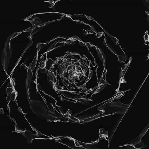 spiral dark bw digital art pattern