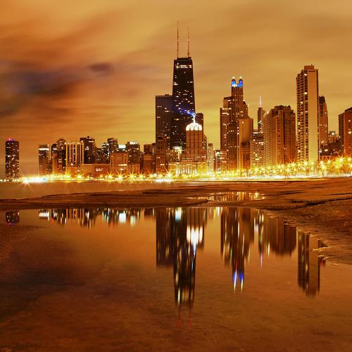Splendid Chicago Skyline hintergrund