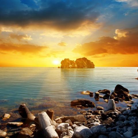 ดาวน์โหลด พระอาทิตย์ตกทะเลสวยงาม วอลล์เปเปอร์ที่มีคุณภาพสูง
