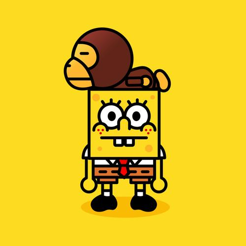 Spongebob and monkey