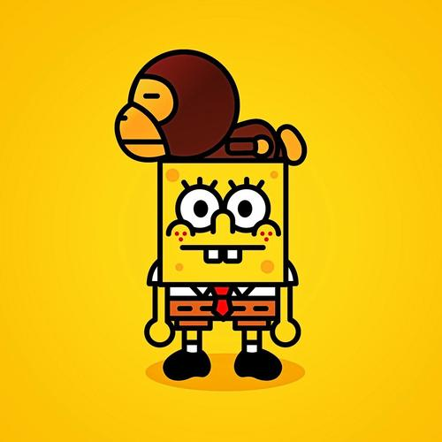 Spongebob and monkey wallpaper