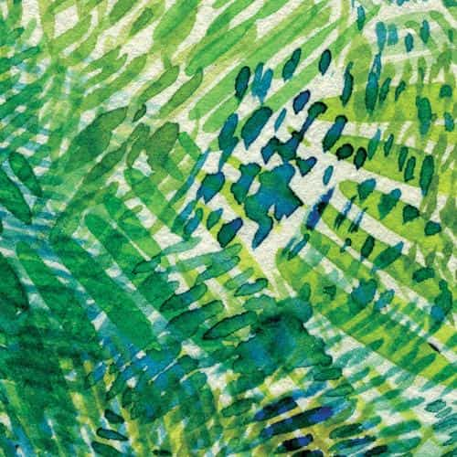 spring art green blue watercolor pattern
