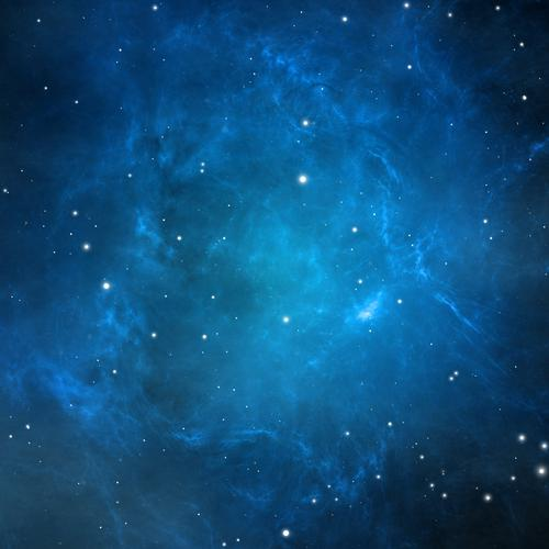 Stars in blue background