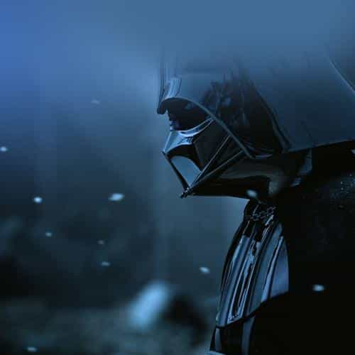 starwars darth vader art film blue