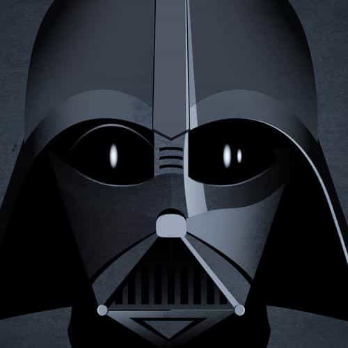 starwars darth vader face dark illustration art hero