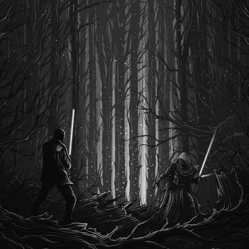 starwars illustration bw dark art film