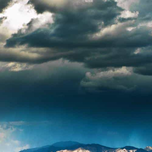 storm mountain sky nature