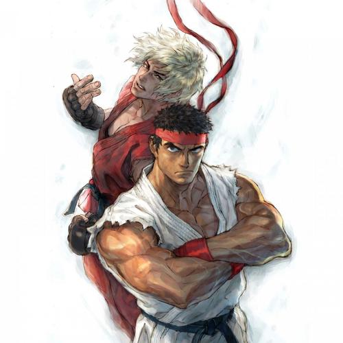 Street fighter painting